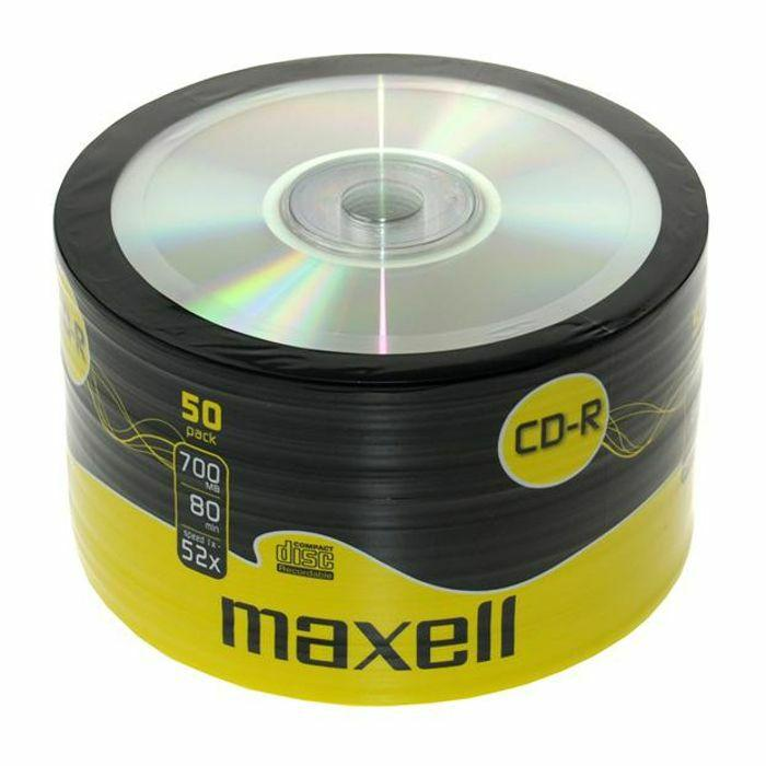 CD-R80 MAXELL, 700MB, 52x, 50 бр