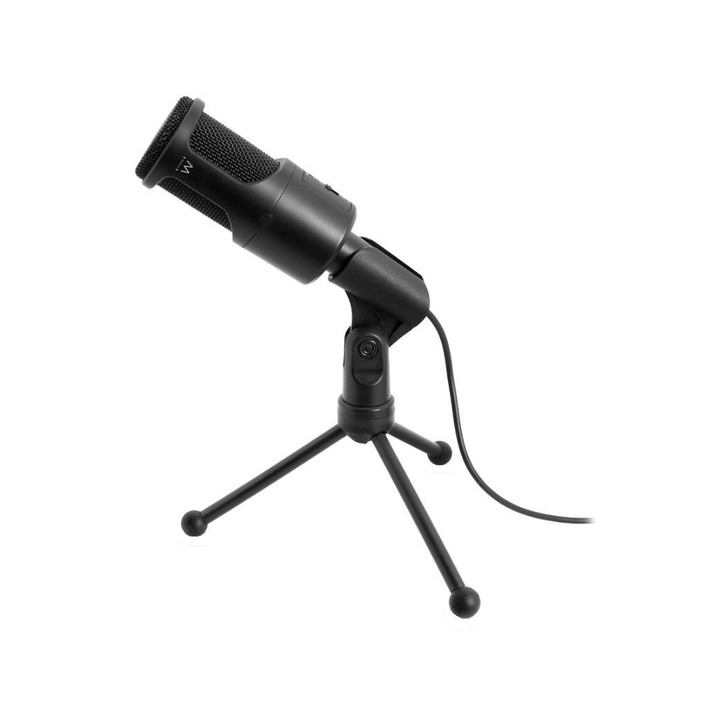 Настолен мултимедиен микрофон EWENT EW3552, филтър за шум, Черен