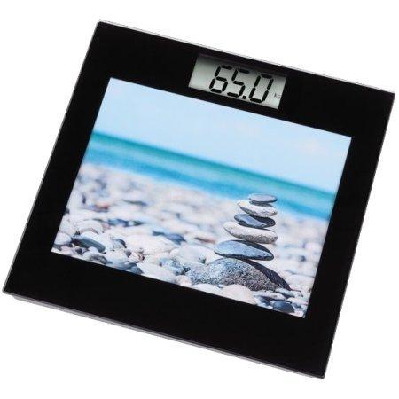 Цифров кантар Xavax Picta 95306,Черен с часовник и пейзаж