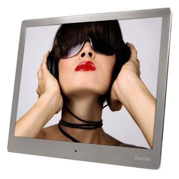 "Цифрова фото рамка HAMA 97SLP 95276, 9.7"", Slim Steel, алуминиево-метална рамка"