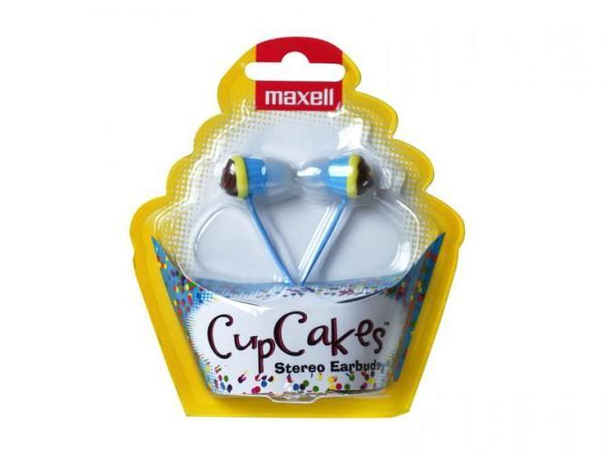 Слушалки  MAXELL color CUP CAKE, In-Ear, Син