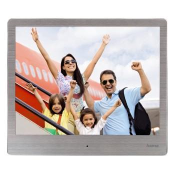 """Цифрова фото рамка HAMA 8SLB 118560, 8"""", Slim Steel, алуминиева рамка"""