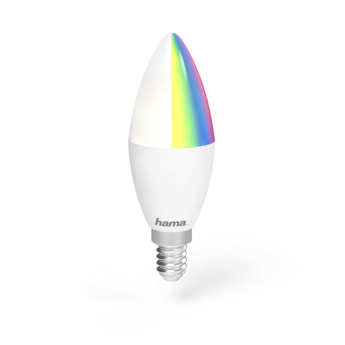 Димираща RGB крушка HAMA WiFi-LED, 4.5W, E14, 350 lm