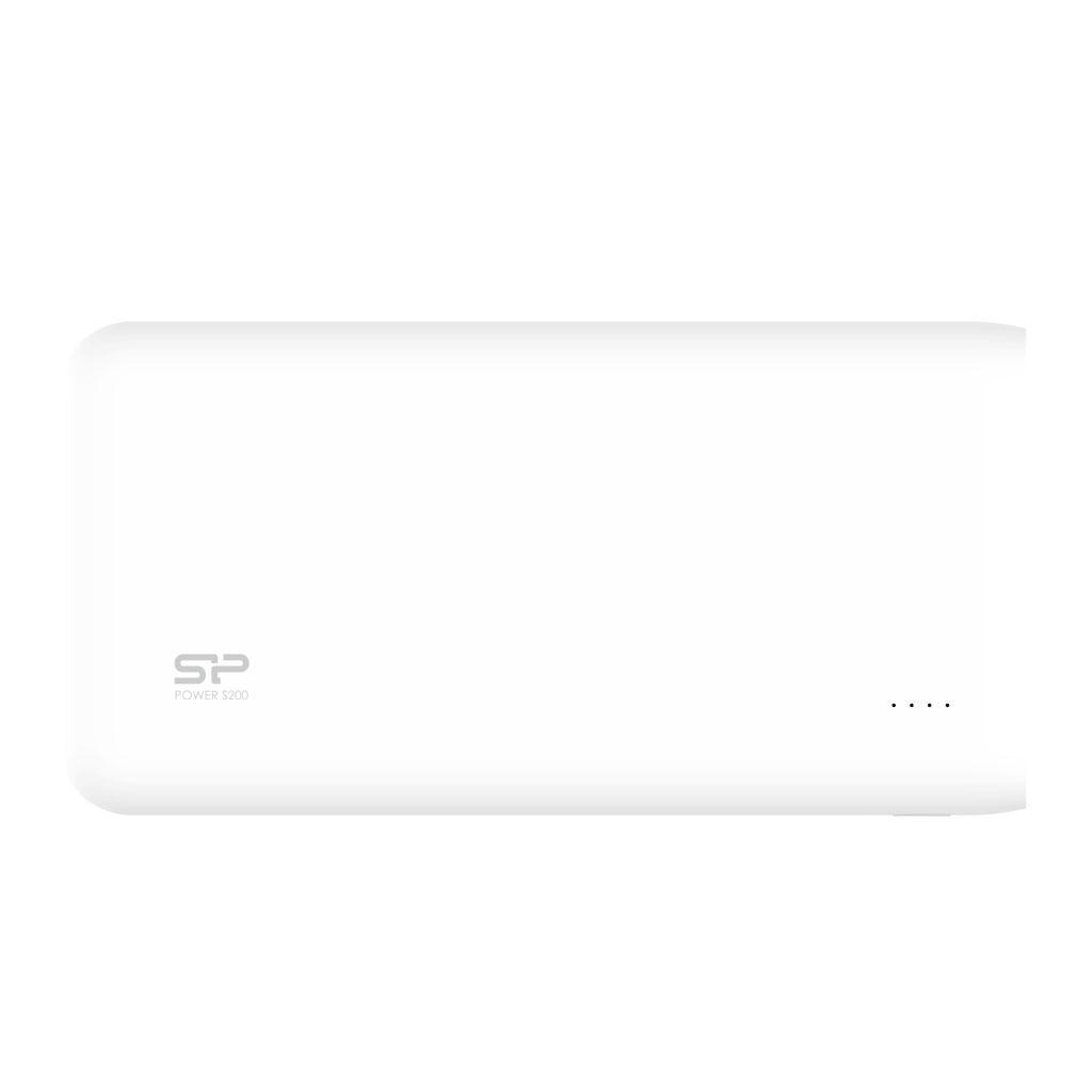 Външна батерия Silicon Power Petroleum S200, 20000 mAh, Бял