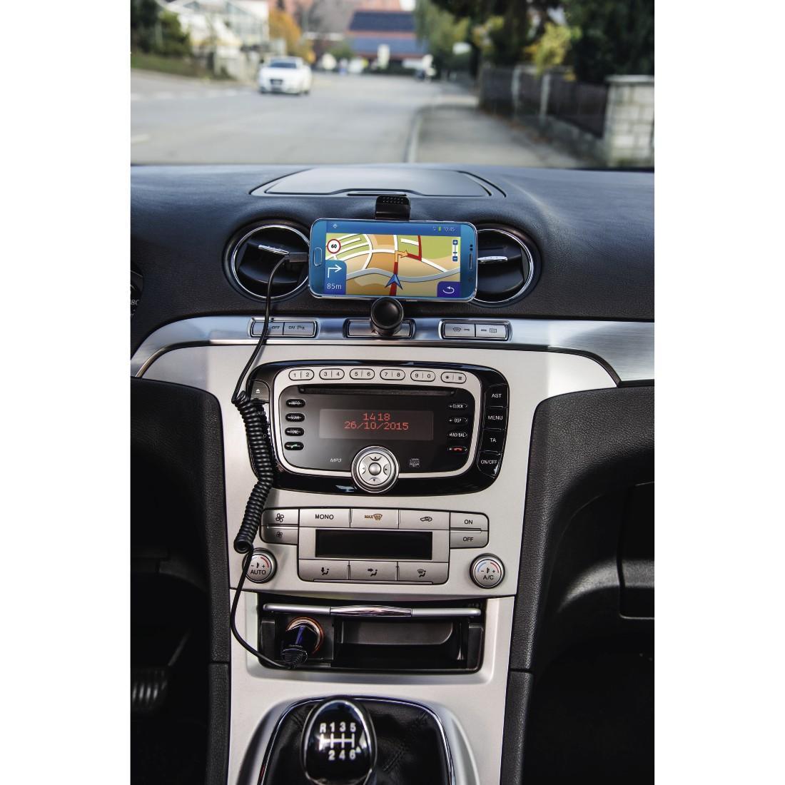 Зарядно за кола HAMA 173605, 10-30V, micro USB, 1.2 A, Черен