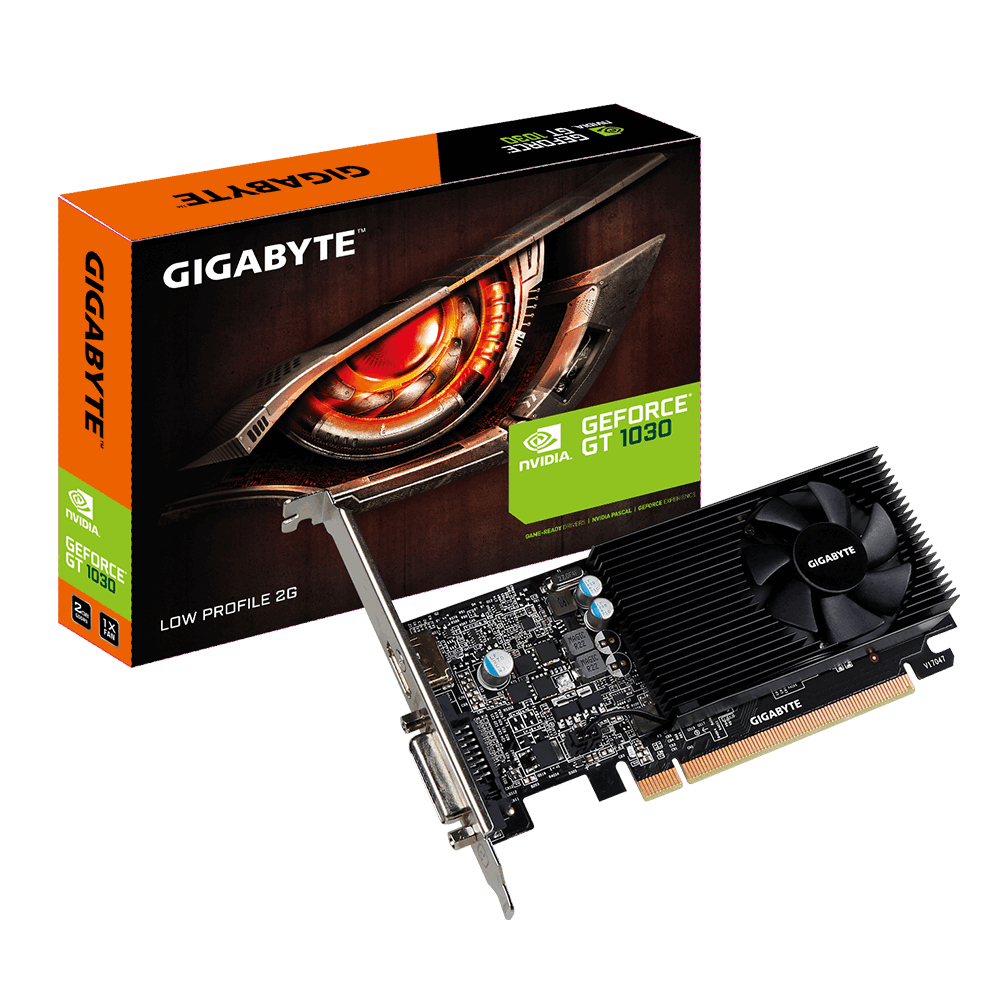 Видео карта GIGABYTE GeForce® GT 1030 2GB GDDR5 64 bit, Low Profile, DVI-D, HDMI