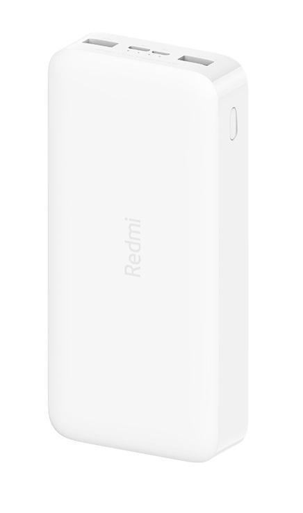 Външна батерия Xiaomi Redmi, 20000 mAh 18W, USB-A / USB-С, Бяла