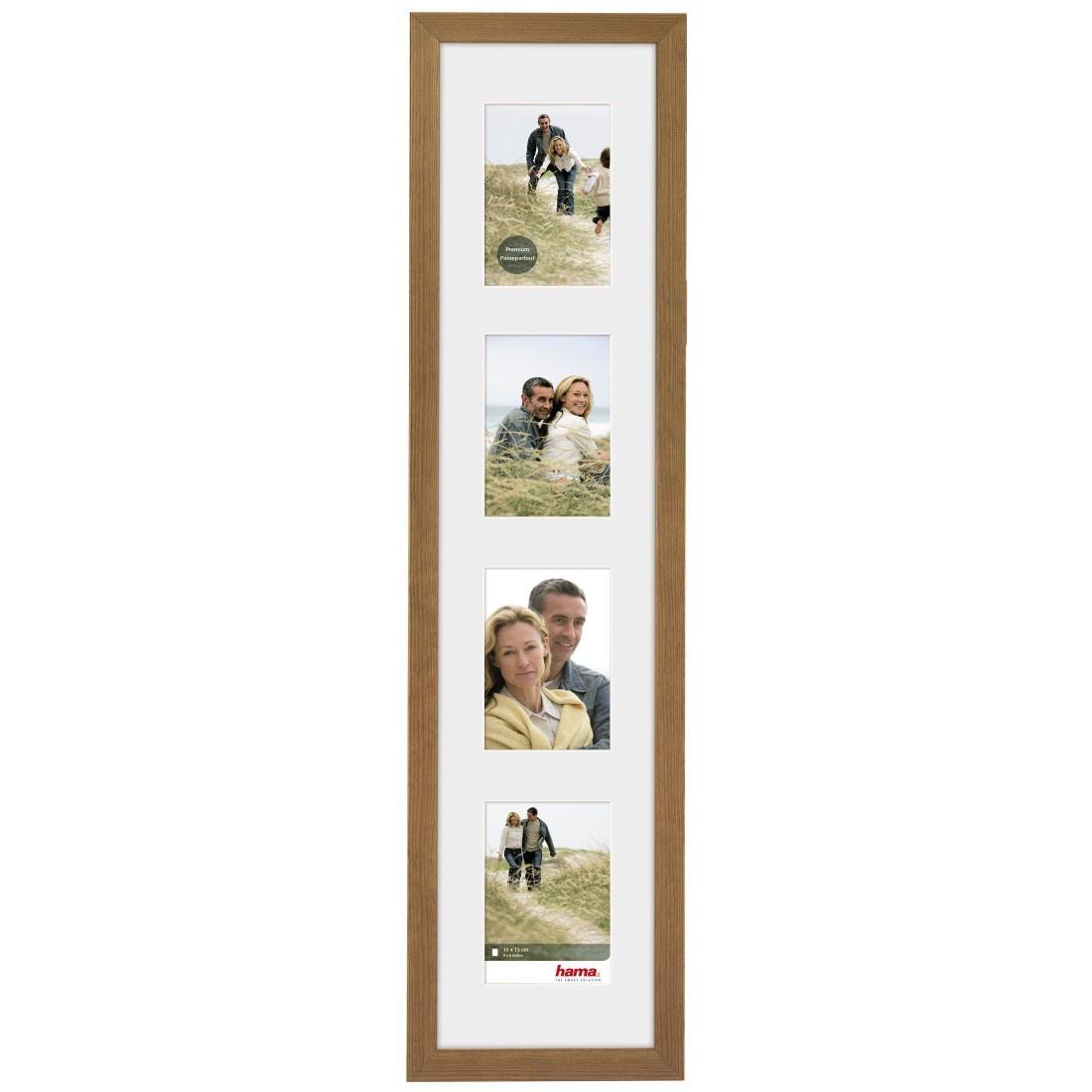 """Дървена рамка """"Riga"""", 18 х 80 см за 4 снимки, кафяв"""