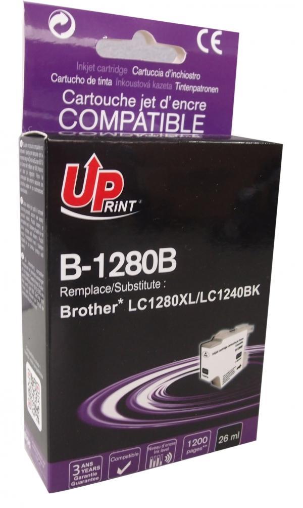 Мастилница UPRINT LC1280XL/1240/1220, BROTHER, Черен