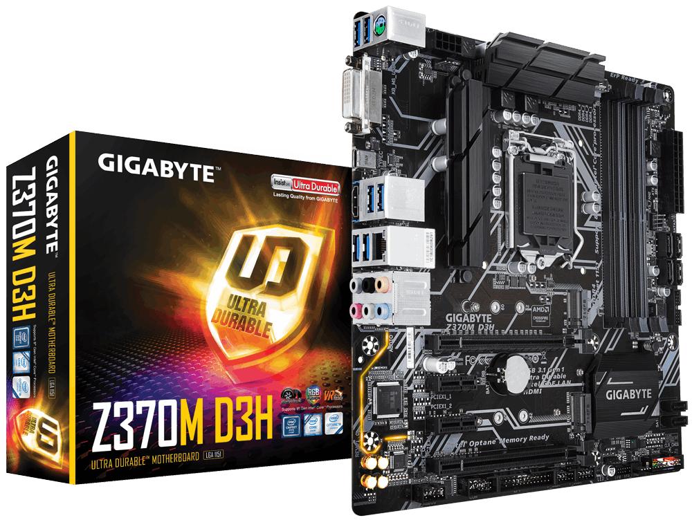 Дънна платка GIGABYTE Z370M D3H, Socket 1151 (300 Series), 4xDDR4, RGB Fusion
