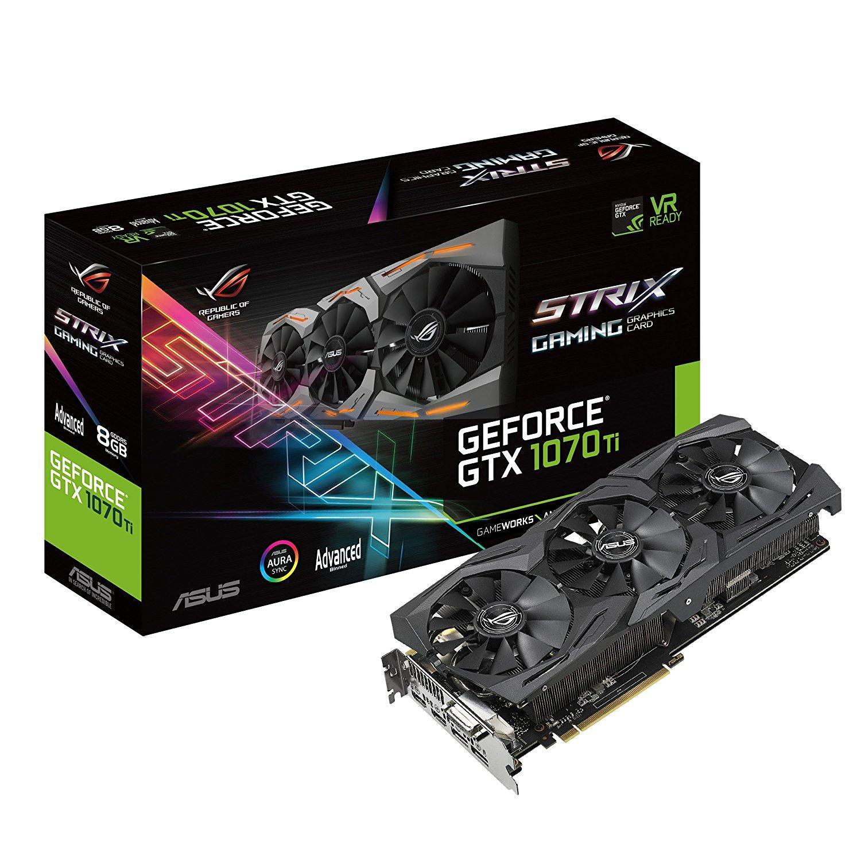 Видео карта ASUS ROG STRIX GeForce GTX 1070Ti Advanced edition 8GB GDDR5 256 bit