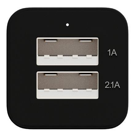 Зарядно за кола MAXELL DUAL с 2 изхода, 2 x USB, Черен/Сребрист