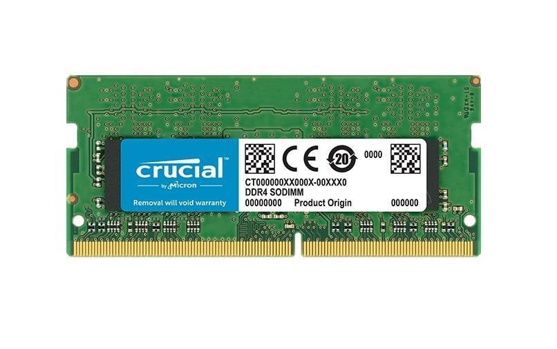 Памет Crucial 8GB DDR4-2400 SODIMM, PC4-19200, 2400MHz CL17, 8QCT8G4SFD824A
