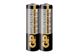 Цинк карбонова батерия GP  SUPERCELL, 15PL-S2, R6, 2 бр. в опаковка / shrink, 1.5V