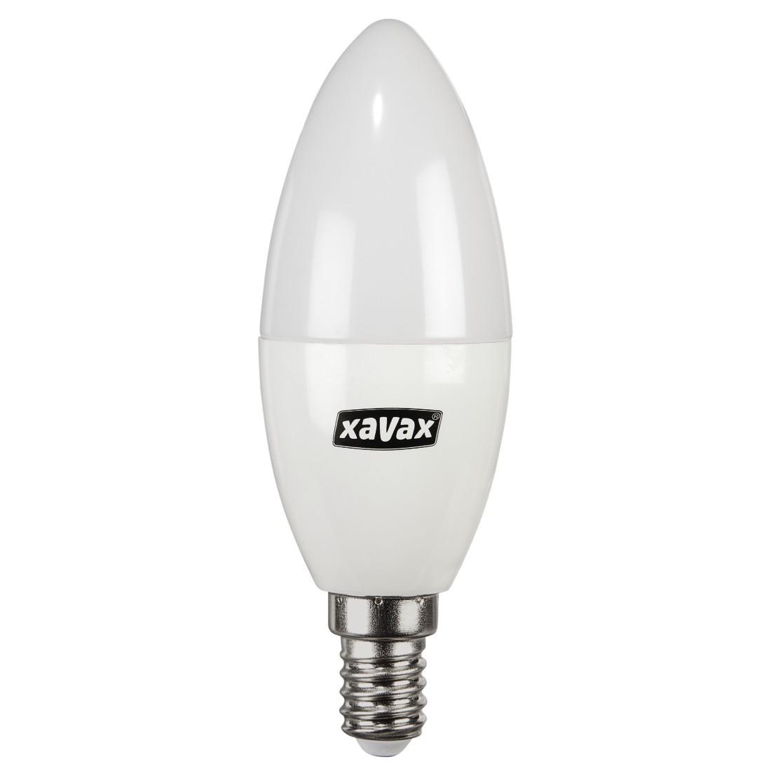 LED крушка XAVAX 112289, 230V, 5.4W, E14, C 37, 2700K, candle