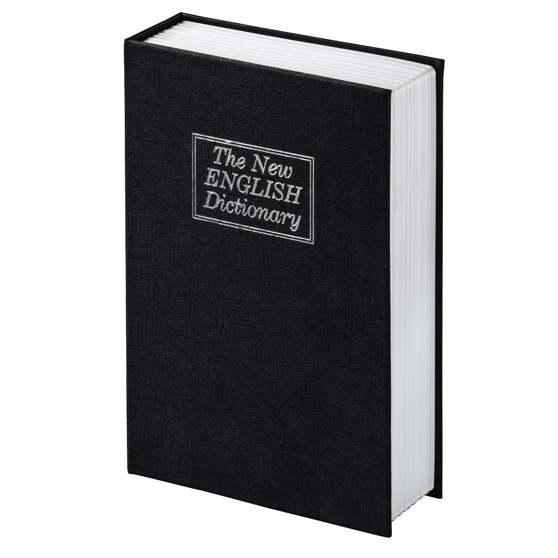 Сейф тип книга HAMA BS-180, 11,5 x 5.5 x 18 cm, Черен