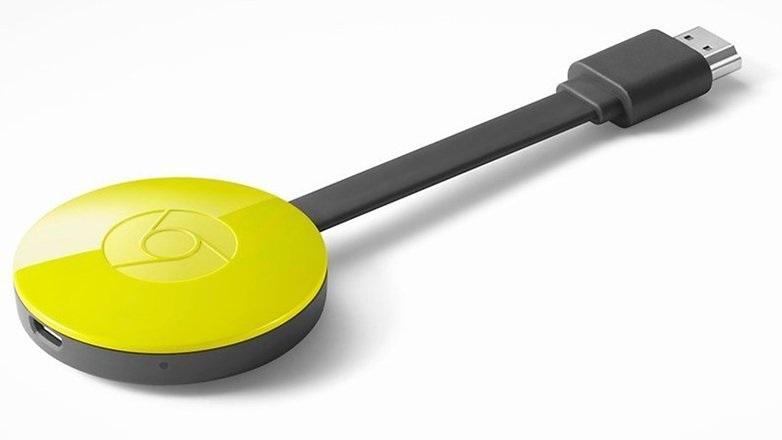 Мултимедиен плеър Google Chromecast 2, HDMI, Жълт