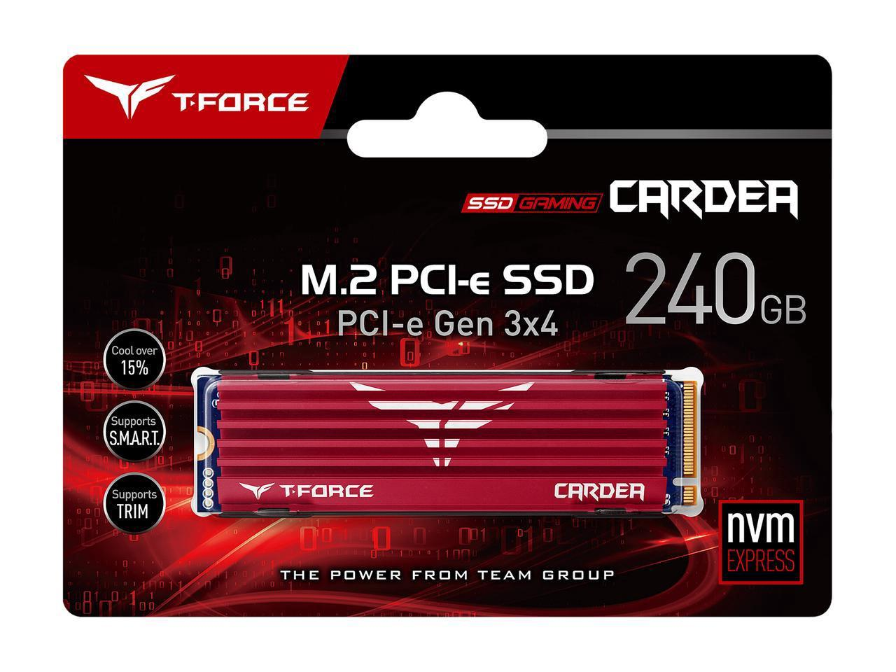 Solid State Drive (SSD) Team Group T-Force Cardea M.2 2280 240GB PCI-e 3.0 x4 NVMe