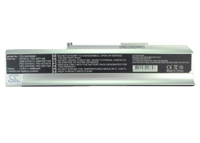 Батерия  за лаптоп LENOVO 3000 N100 92P184, 10.8V, 4400mAh, Черен, Cameron sino