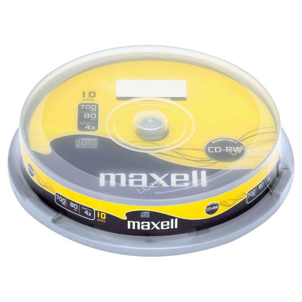 CD-RW80 MAXELL, 700MB, 52x, 10 бр