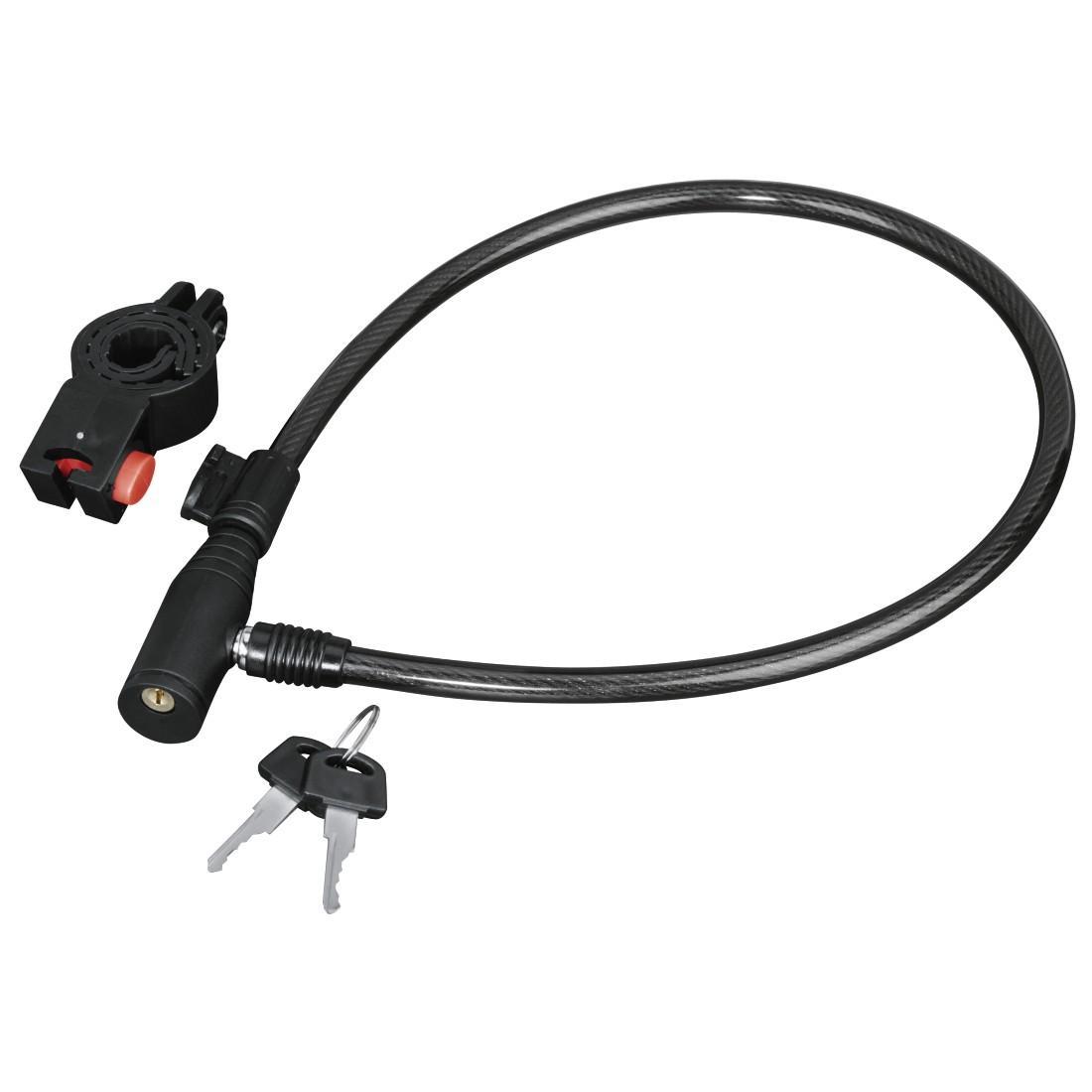 Заключващо устройство за велосипед HAMA 178109, 65 см, Черен