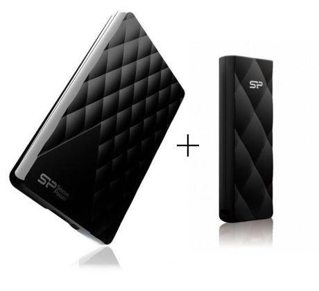 """Външен хард диск SILICON POWER Diamond D06, 2.5"""", 1TB, USB3.0, подарък Blaze B20 8GB"""