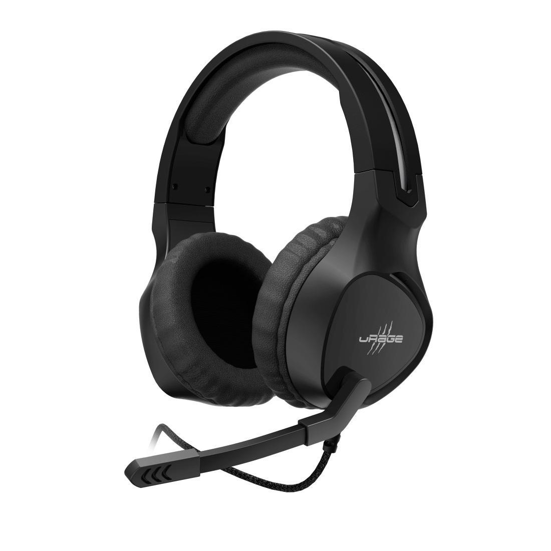 Геймърски слушалки Hama uRage Soundz 300, Микрофон, 3.5мм жак, Черен