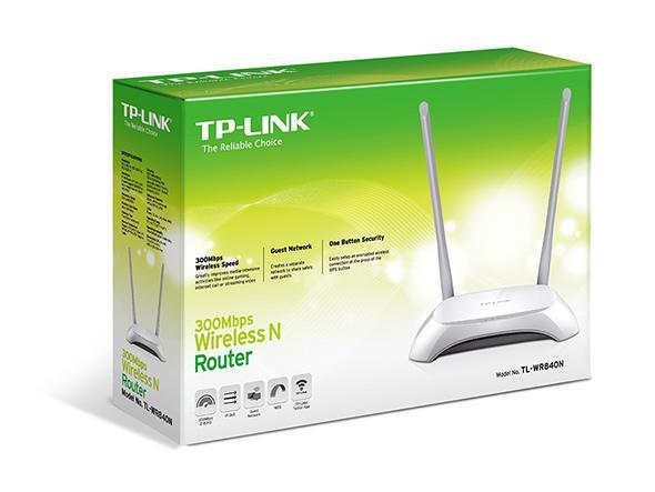 Безжичен рутер TP-LINK TL-WR840N, 300Mbps