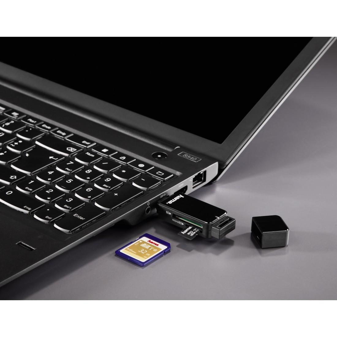 Четец за карти HAMA 123901, USB 3.0, SD/microSD