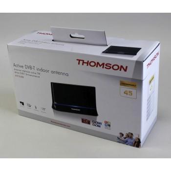 Вътрешна антена HAMA Thomson ANT1538, HDTV/3D, DVB-T/T2, Активна, Perf. 45, Черен