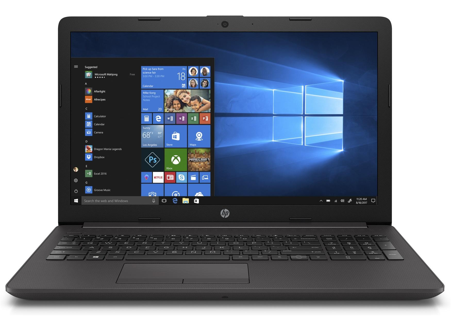 "Лаптоп HP 250 G7, Intel Celeron N4000, 15.6"", 4GB, 1TB HDD, 6EB64EA, Черен"
