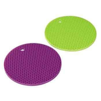 Силиконови подложки Xavax, 2 броя/зелена,виолетова/