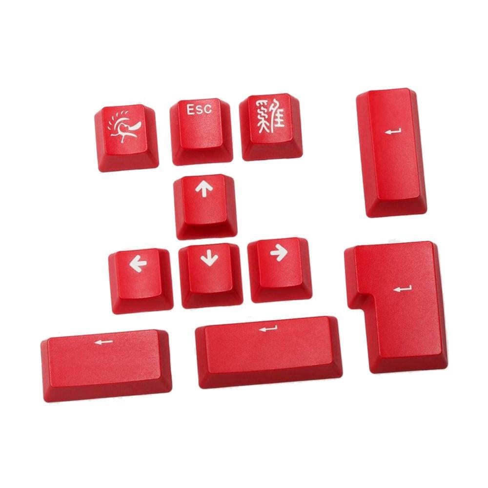 Капачки за механична клавиатура Ducky Carmine Red 11-Keycap Set PBT Double-Shot US Layout