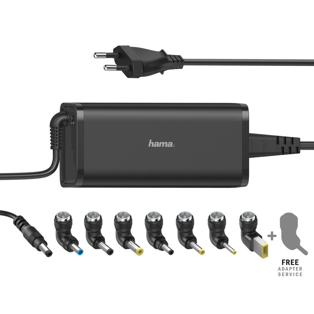 Универсално захранване за лаптоп HAMA, мрежово, вх. 100-240 V, изх. 15/19 V, 90 W