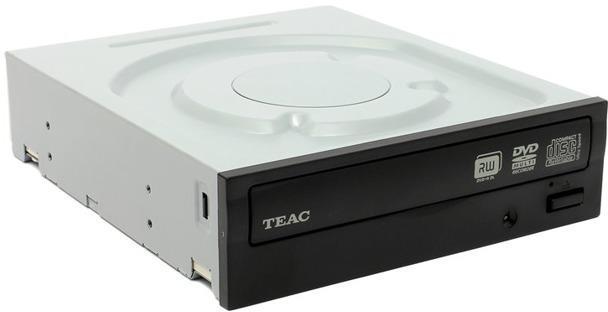 Записващо устройство TEAC DV-W524GSD-K-EU-B-T, за PC, 24х SATA, Черен