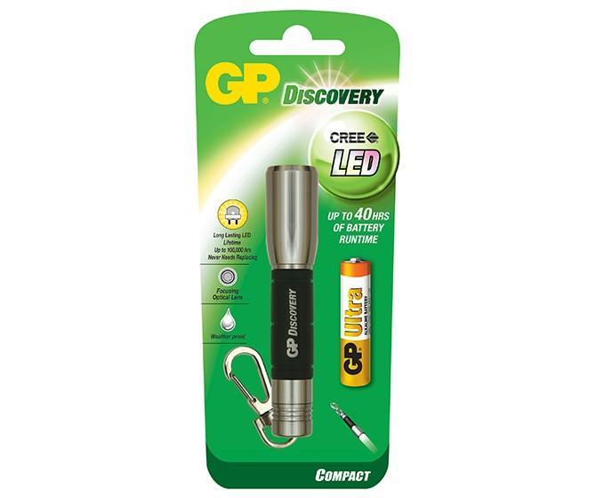 Фенер GP BATTERIES Discovery LCE202 CREE LED с 1 x AАА батерии /ключодържател/ сребрист 8 цвятa
