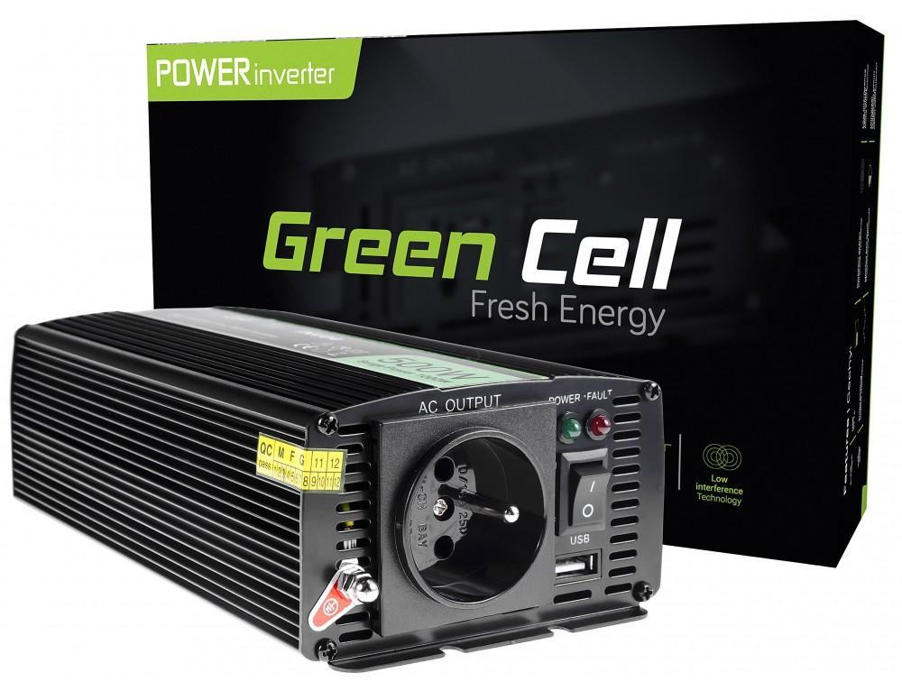 Инвертор GREEN CELL 24V/500W