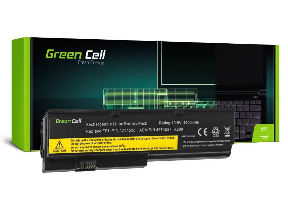 Батерия  за лаптоп IBM Lenovo ThinkPad X200 X201 X201i 42T4535 10.8V 4400mAh GREEN CELL