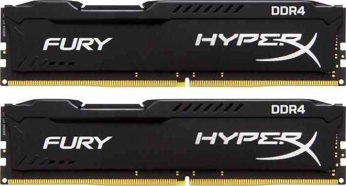 Памет Kingston HyperX Fury 8GB(2x4GB) DDR4 PC4-19200 2400Mhz CL15 HX424C15FBK2/8 Intel XMP