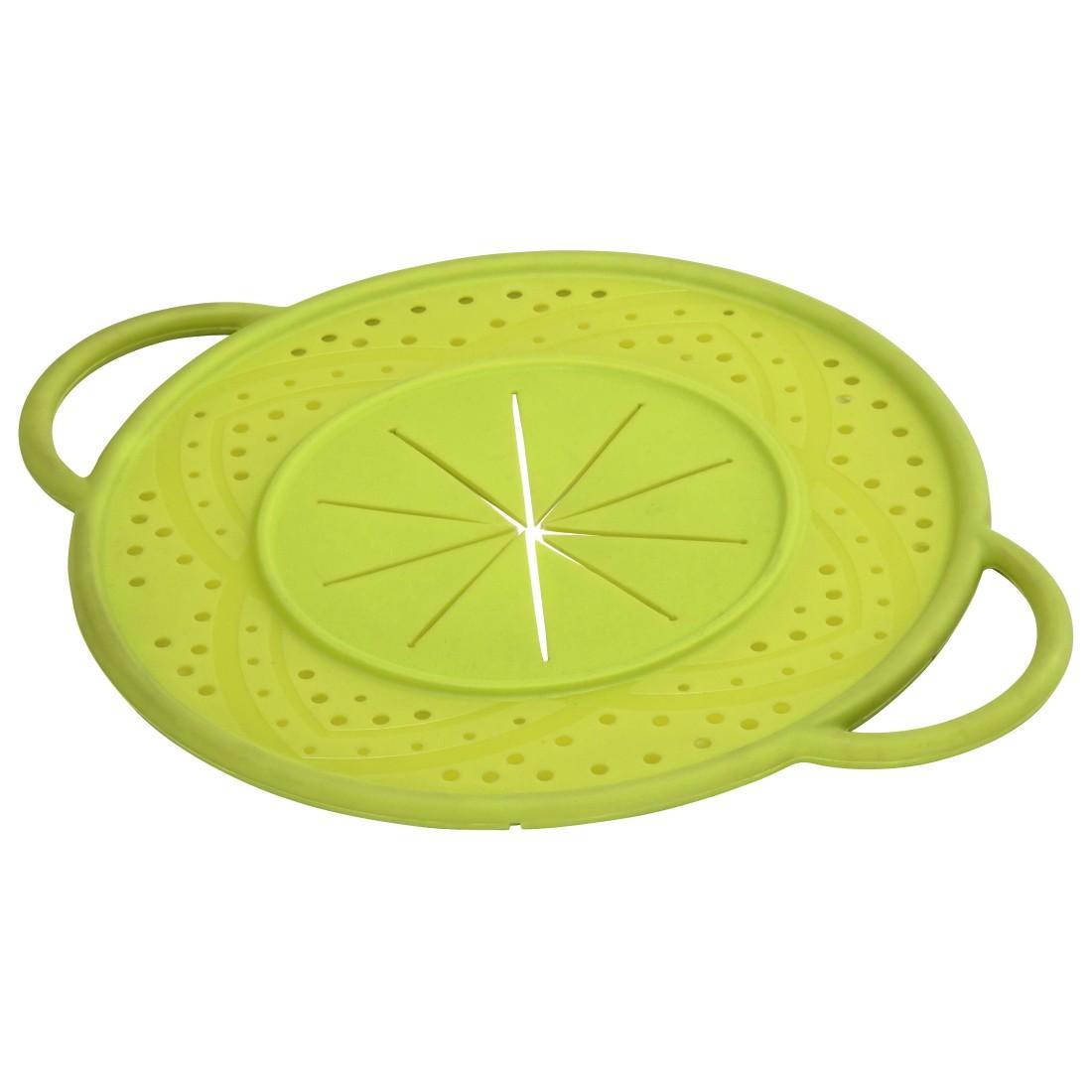 XAVAX Силиконов капак против пръски, кръгъл, 21 см, зелен