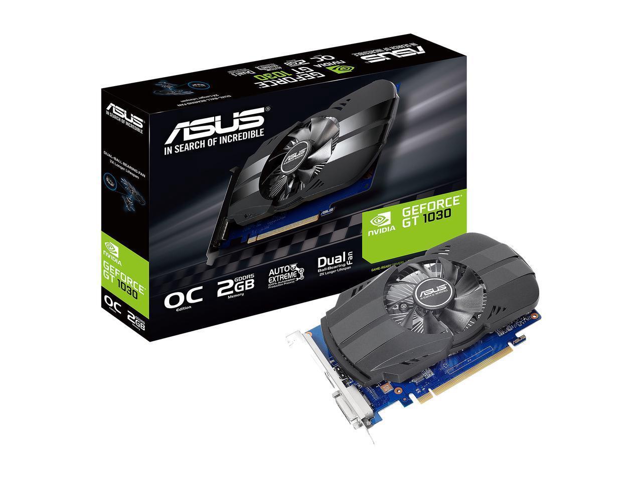 Видео карта ASUS Phoenix GeForce® GT 1030 OC Edition 2GB GDDR5 64 bit, DVI-D, HDMI