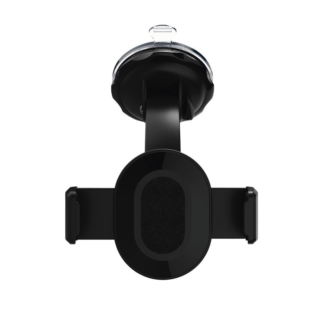 Универсална поставка/комплект/ за навигации/телефон/таблет за стъкло и кола HAMA 173896, размер 5.5 - 8.5 см, Черен