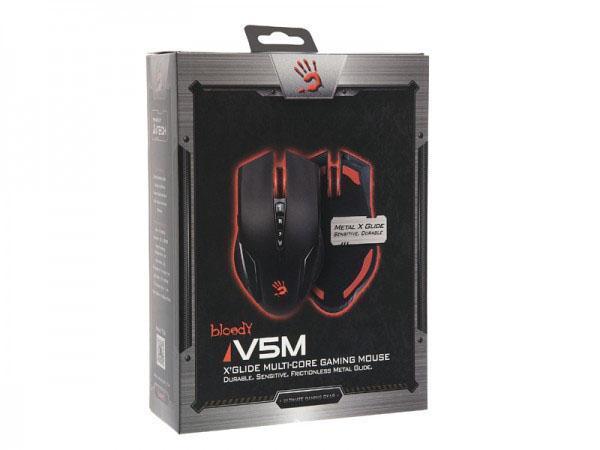 Геймърска мишка Bloody, V5M, Оптична, Жична, USB