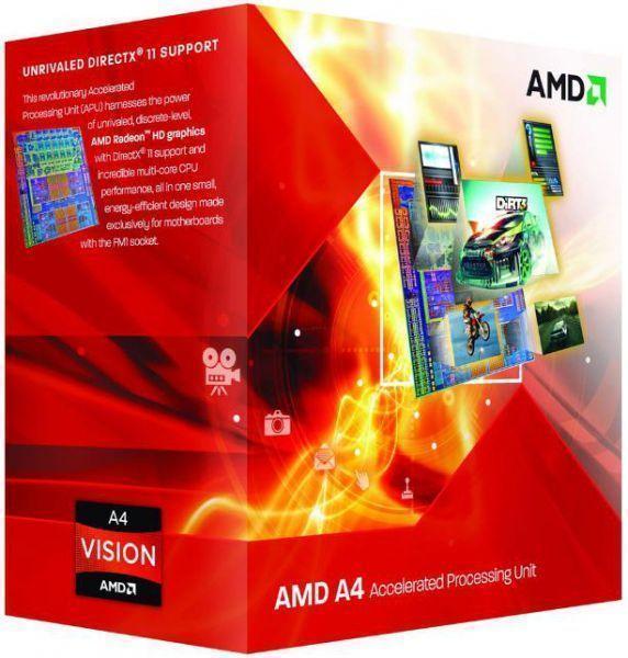 Процесор AMD A4-series X2 4000, 3.2Ghz, 1Mb, 65W, FM2, HD 7480D Graphics