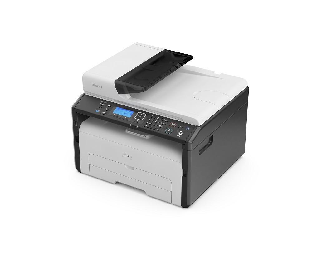 Мултифункционално монохромно лазерно устройство RICOH SP277SNWX, A4, LAN, USB 2.0