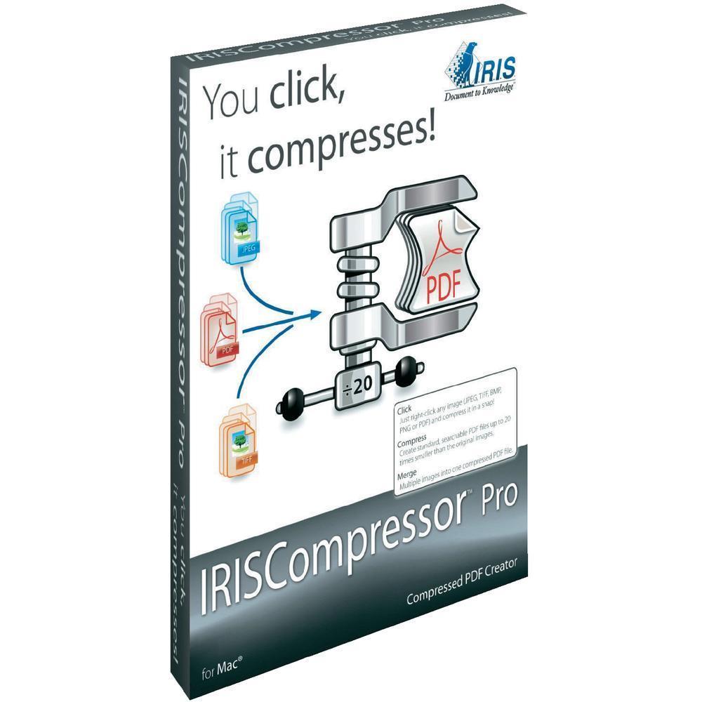 Софтуер iris IRISCompressor Pro MAC за компресиране от формати JPEG/ PNG/ТIFF/PDF в PDF файл