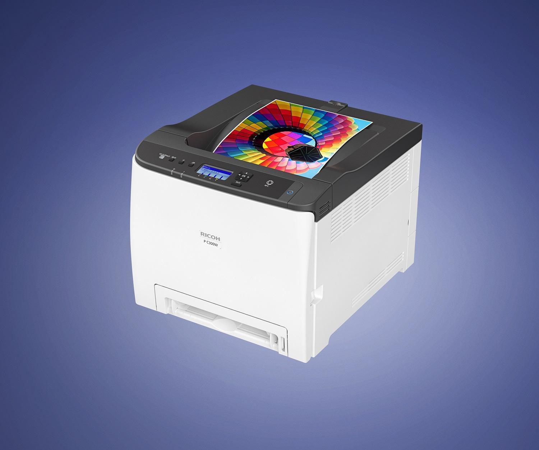 Цветен лазерен принтер RICOH P C300W, USB, LAN, WiFi, A4, 2400 x 600dpi, 25 ppm