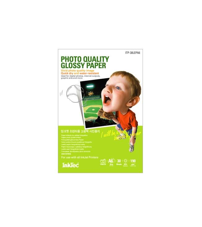 Хартия INKTEC Heavy Weight Glossy film, 30sh, A6, 270g/m2 , 105 x 148 mm