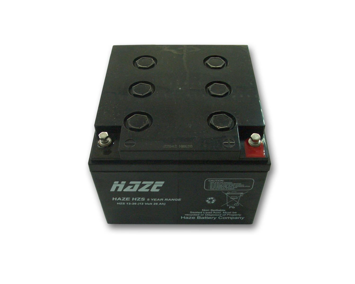 Оловна Батерия Haze (HZS12-26) 12V / 26 Ah - 168 / 178 / 124 mm AGM
