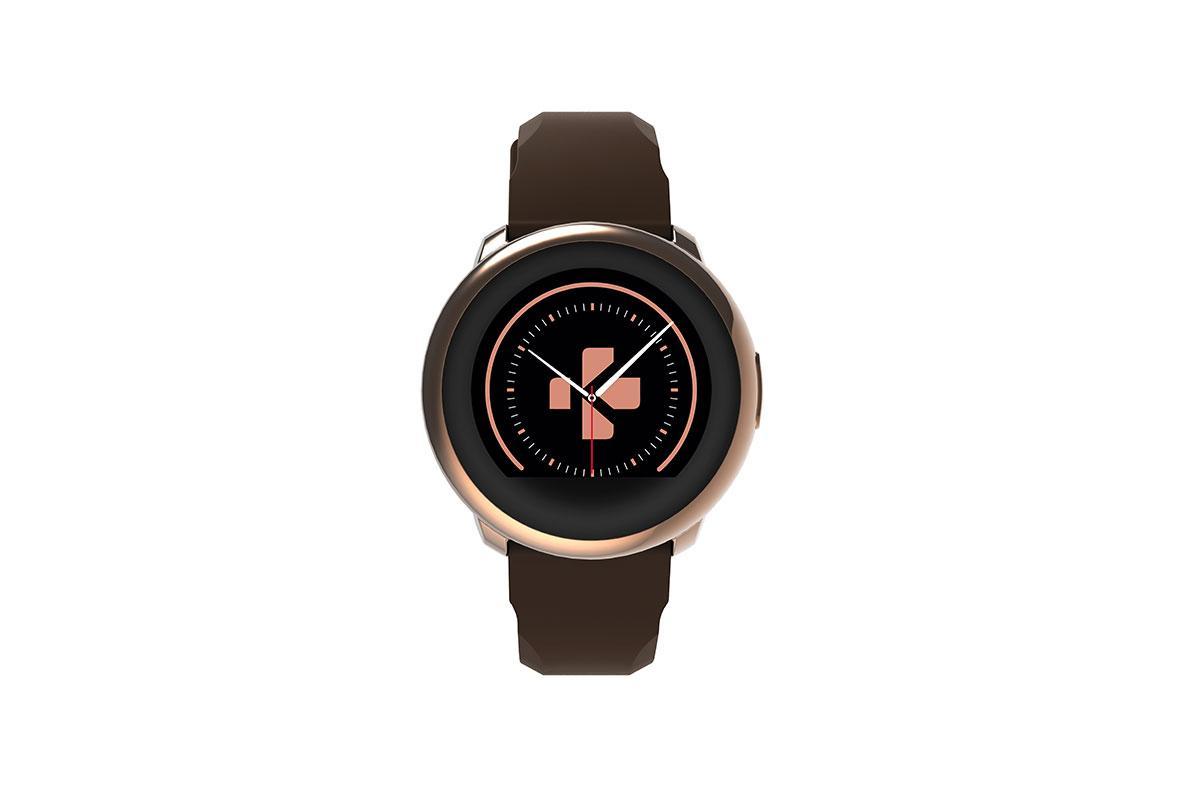 Смарт часовник MyKronoz ZeRound, Златист/Кафяв